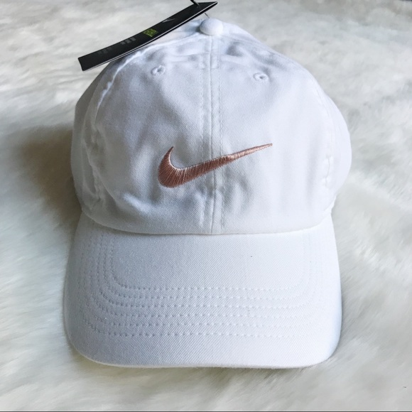 Nike White + Rose Gold H86 Dad Hat 71558a91241